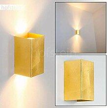 Wandlampe Matera aus Metall in Gold, rechteckige
