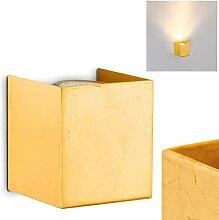 Wandlampe Matera Up aus Metall in Gold, eckige