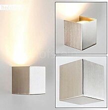 Wandlampe Matera Up aus Metall in Nickel-matt,