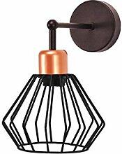 Wandlampe Metall Offener Gitter Schirm Stäbe E27