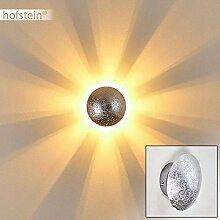 Wandlampe Mezia, runde Wandleuchte aus Metall in