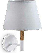 Wandlampe mit Schirm Weiß