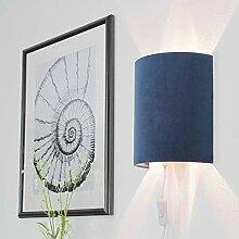 Wandlampe mit Stecker Blau Samt Modern ALICE