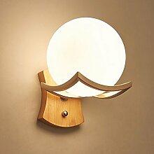 *wandlampe Moderne Massivholz LED Wandleuchte,