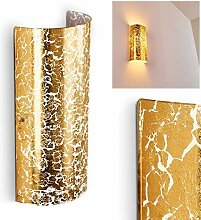 Wandlampe Modica aus Metall/Glas in Gold, moderne