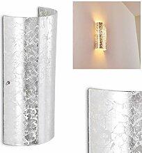 Wandlampe Modica aus Metall/Glas in Silber,