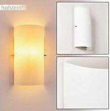 Wandlampe Modica aus Metall/Glas in Weiß, moderne