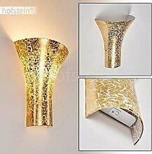 Wandlampe Nerola aus Metall/Glas in Gold, moderne