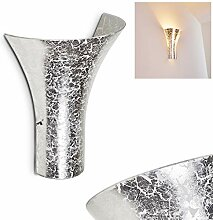 Wandlampe Nerola aus Metall/Glas in Silber,