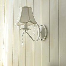 Wandlampe Nordeuropäische Einfach Prinzessin Schlafzimmer Bett Wall Lamp,C