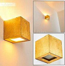 Wandlampe Noto aus Keramik in Gold, Wandleuchte