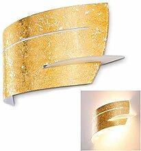 Wandlampe Novara aus Metall/Glas in Gold, moderne
