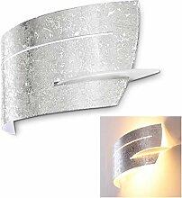 Wandlampe Novara aus Metall/Glas in Silber,