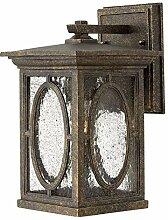 Wandlampe OSWIN Braun Aluminium Glas IP44 Rustikal