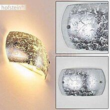 Wandlampe Pilar in Silber/Weiß, moderne