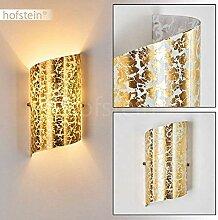 Wandlampe Pordenone aus Glas in Gold, moderne