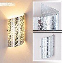 Wandlampe Pordenone aus Glas in Silber, moderne