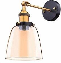 Wandlampe Retro bernstein/Glas Lampenschirm E27