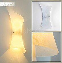 Wandlampe Rivoli aus Metall/Glas in Weiß, moderne