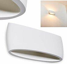 Wandlampe Scafati aus Keramik in Weiß,