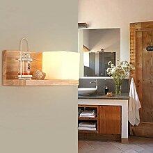 Wandlampe Schlafzimmer, Glas quadratisch