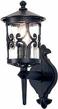 Wandlampe Schwarz Aluminium IP23 Rustikal