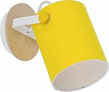 Wandlampe Schwenkbar Gelb Weiß E27 Wohnzimmerspot Leselampe Strahler Flur Flurlampe Spotstrahler Spot Wandleuchte