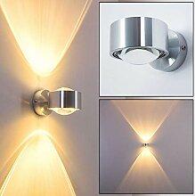Wandlampe Silber mit besonderem Lichteffekt -