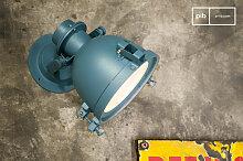 Wandlampe Spitzmüller in einem Petrolblau