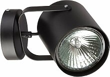 Wandlampe Strahler Schwarz Ø12cm E27 Modern