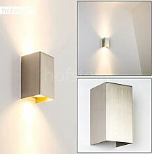 Wandlampe Tabera in Stahl gebürstet, moderne