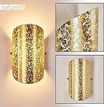 Wandlampe Teramo aus Glas in Gold, moderne