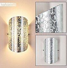 Wandlampe Teramo aus Glas in Silber, moderne