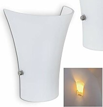 Wandlampe Terni aus Metall/Glas in Weiß, moderne