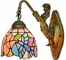 Wandlampe Tiffany Style Wandleuchte Blumen und