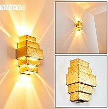 Wandlampe Tokio aus Keramik in Gold, Wandleuchte