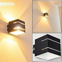 Wandlampe Varco aus Metall in Schwarz/Weiß mit
