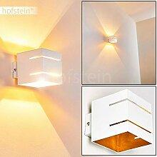 Wandlampe Varco aus Metall in weiß/Gold mit