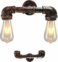 Wandlampe Vintage Eisen Rohr Kreative Wand-Licht