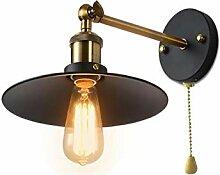 Wandlampe Vintage Eisen Wandlampe Mit Zugschalter