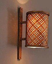 wandlampe- Vintage Holz Wandleuchte Kreative