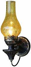 Wandlampe Vintage Wandleuchte Runde Glas
