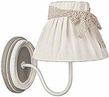 Wandlampe VIVIEN grau weiß antik Landhausstil