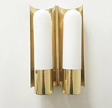 Wandlampe von Glashütte Limburg, 1980er