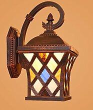 Wandlampe Wandlampen für Schlafzimmer-TB1081 Pastorale Wand wasserdichte Außenleuchte American Country Garden Lichter Balkon Gang Korridor Licht Villa