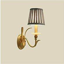 *wandlampe Wandleuchte American Copper Stoff E27