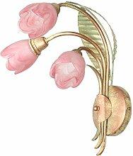 Wandlampe Wandleuchte Jugendstil Art Tulpen Rosa