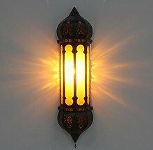 Wandlampe Wandleuchte Wand Lampe Orientalische Ruya Gelb aus Marokko