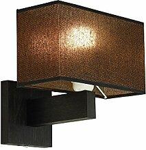 Wandlampe - Wero Design Bilbao-001 A SCHWARZ/GOLD TR - 14 Varianten, Wandleuchte, Leuchte, Lampe, Massivholz, Eiche, Eichenholz