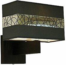 Wandlampe - Wero Design Bilbao-001 B GRAPHITE/SILEBR - 24 Varianten, Wandleuchte, Leuchte, Lampe, Massivholz, Eiche, Eichenholz